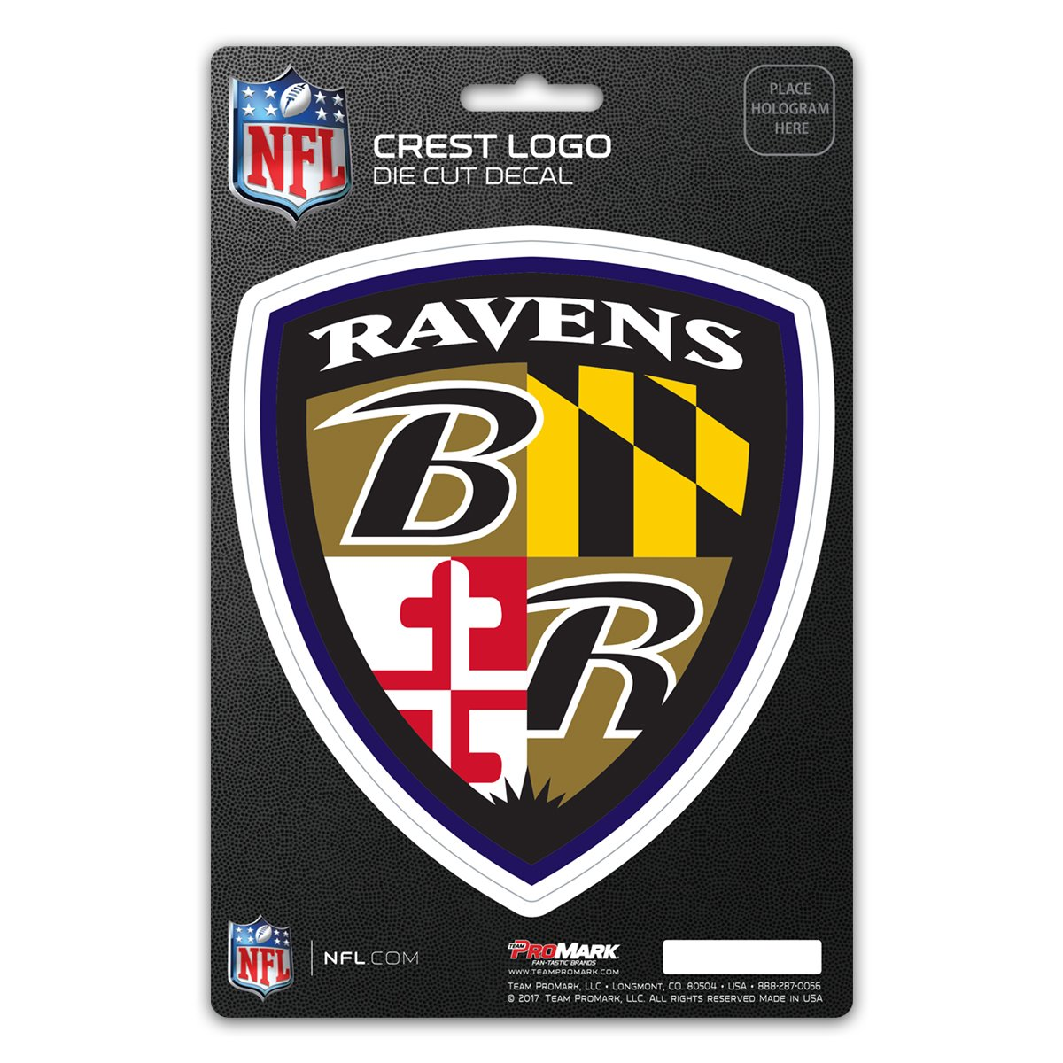 Amazon com nfl baltimore ravens shield decal sports outdoors