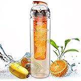AVOIN colorlife フィルター付きTritanプラスチックフルーツウォーターボトル 直飲み(800ml)カラバリ豊富 …