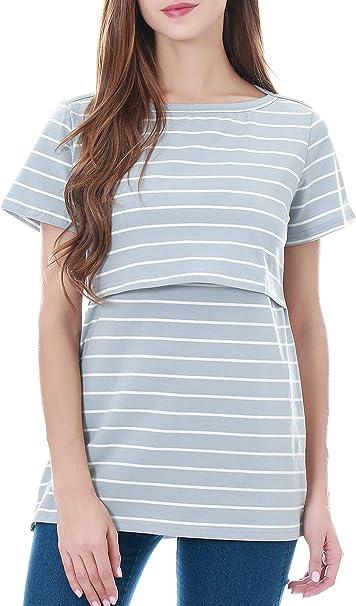 Smallshow Women/'s Maternity Nursing Dress Short Sleeve Breastfeeding Dresses