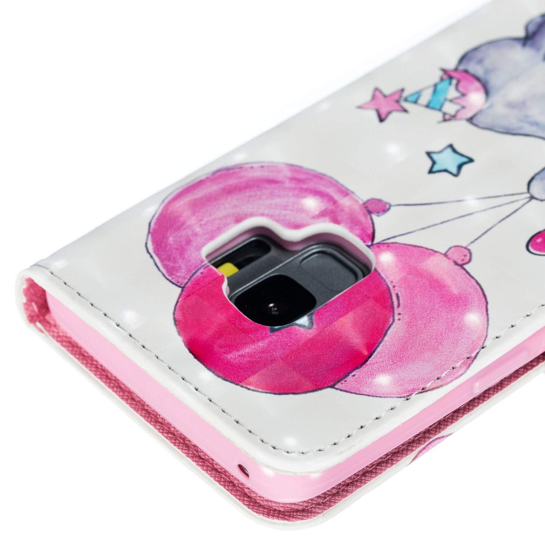 Cane Aireratze Custodia Compatibile Galaxy S9 Plus,3D Magnetico Libro Flip in Pelle PU Cuoio Case Cover Funzione di Appoggio e Supporto per Samsung Galaxy S9 Plus