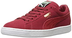 PUMA Men's Suede Classic + Lace-Up Fashion Sneaker, Rio Red/High Risk Red, 8.5 M US