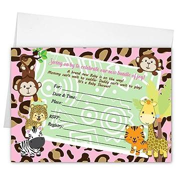 amazon com pink safari girl giraffe jungle monkey safari baby
