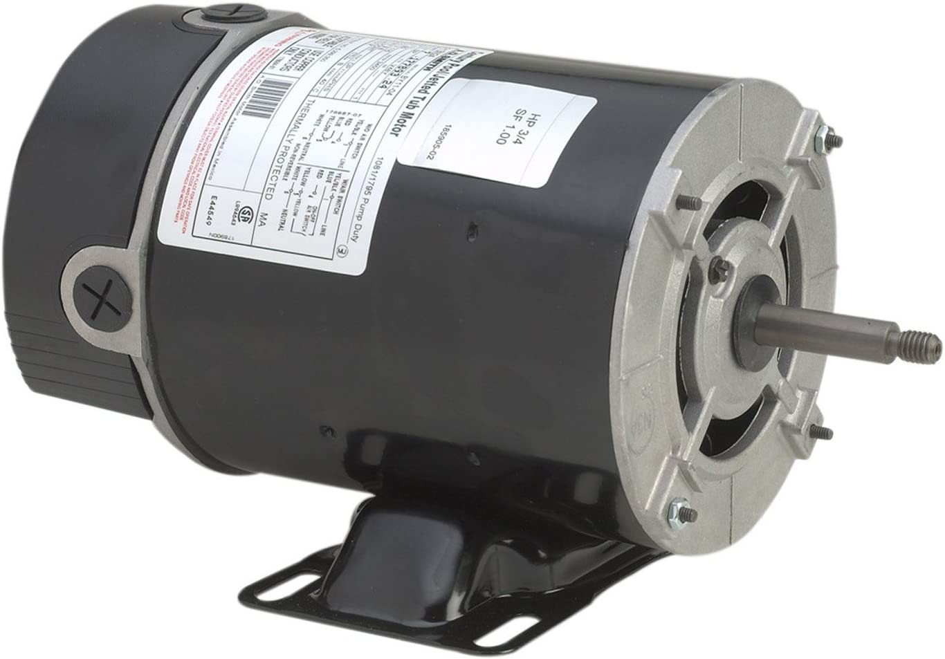 A.O. Smith BN37V1 1 HP - 1/8 HP, 115 Volts, 11.0/2.9 Amps, 1 Service Factor, 48Y Frame, Capacitor Start, ODP Enclosure, Rigid Base Pool Motor