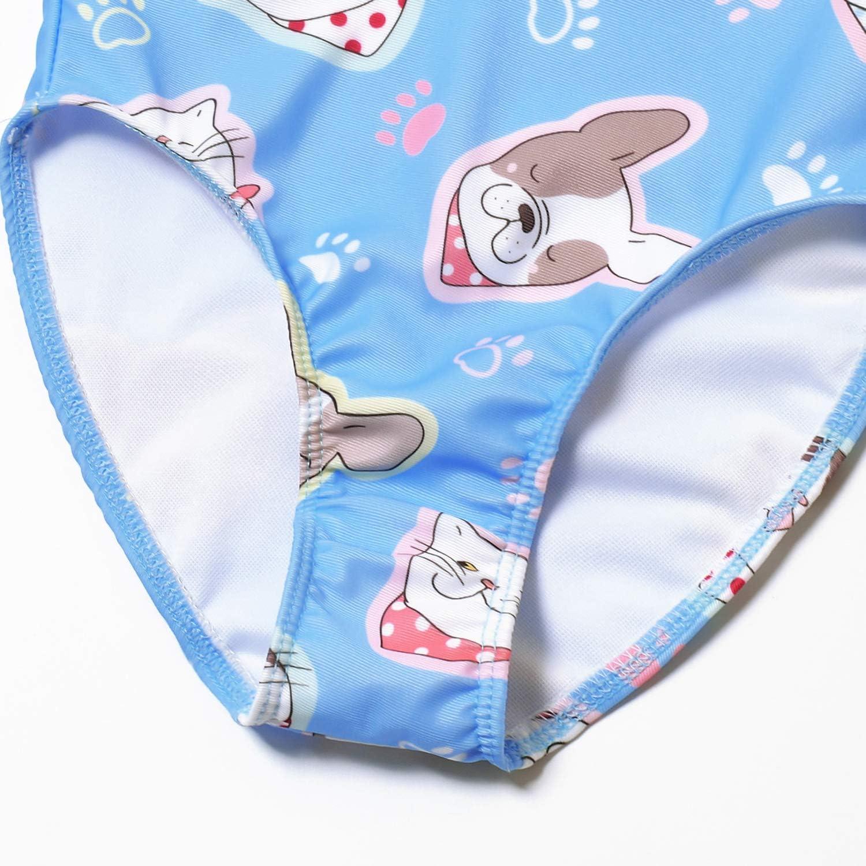Girls Graphic Bathing Suits Rainbow Pinapple One Piece Bohemia Swimwear for Kids