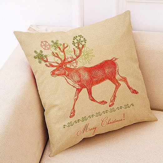 Coverhome - Funda de almohada de Navidad, para sofá, cama ...