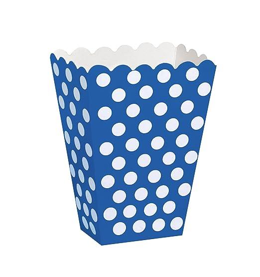 26 opinioni per Unique Party 59294 Scatole Popcorn Sorpresa a Pois Blu Reale, Confezione da 8