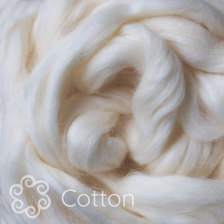 Egyptian Cotton Fiber for Spinning Blending Dyeing Soft White Vegan Combed Top