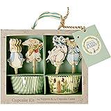 Meri Meri, Peter Rabbit & Friends Cupcake Kit, DIY Birthday, Party Decorations
