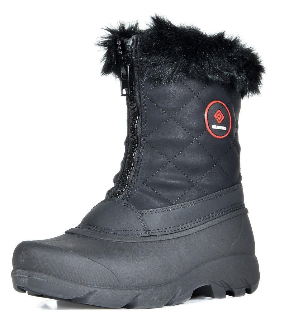 DREAM PAIRS Women's North Black Faux Fur Mid Calf Winter Snow Boots Size 9 M US