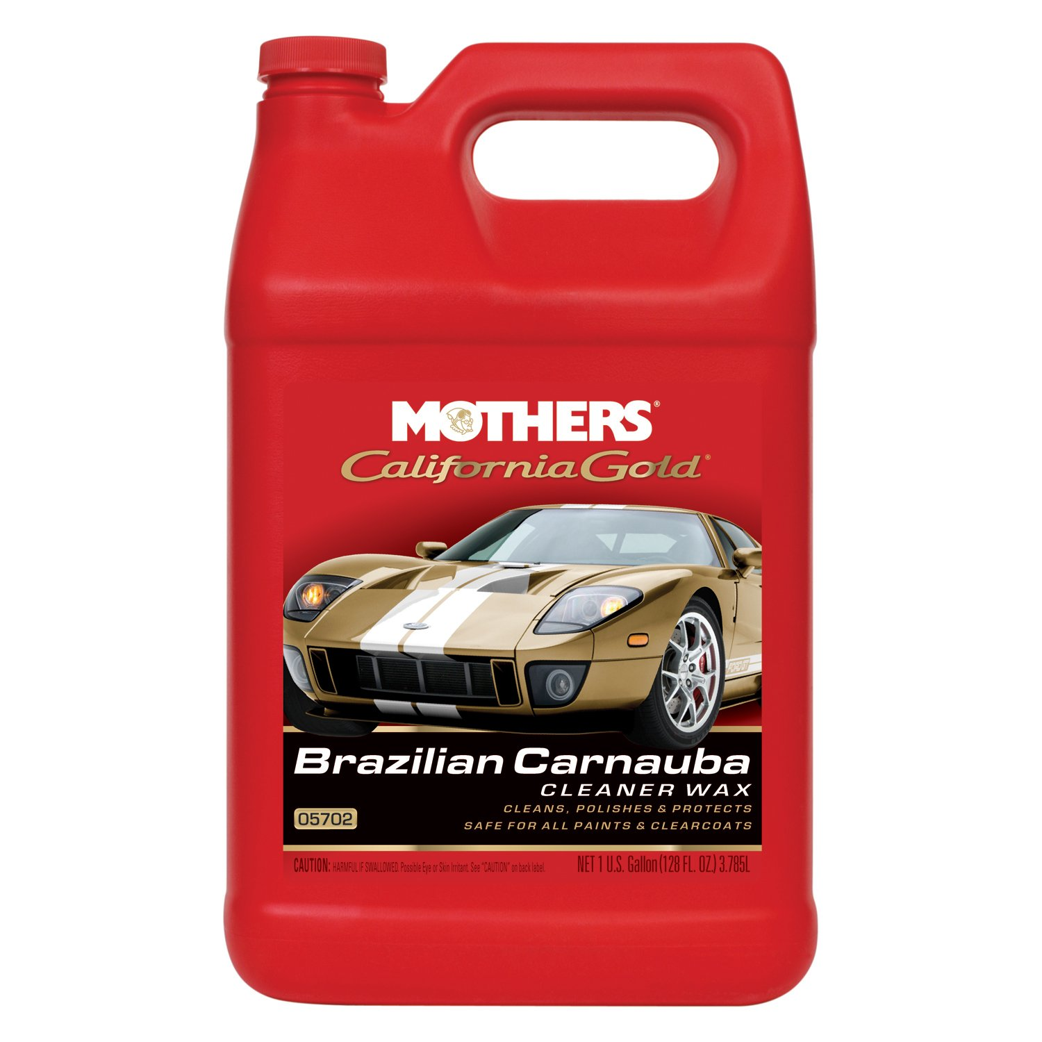 Mothers 05702-4 California Gold Brazilian Carnauba Cleaner Liquid Wax - 1 Gallon, (Pack of 4) by Mothers (Image #1)