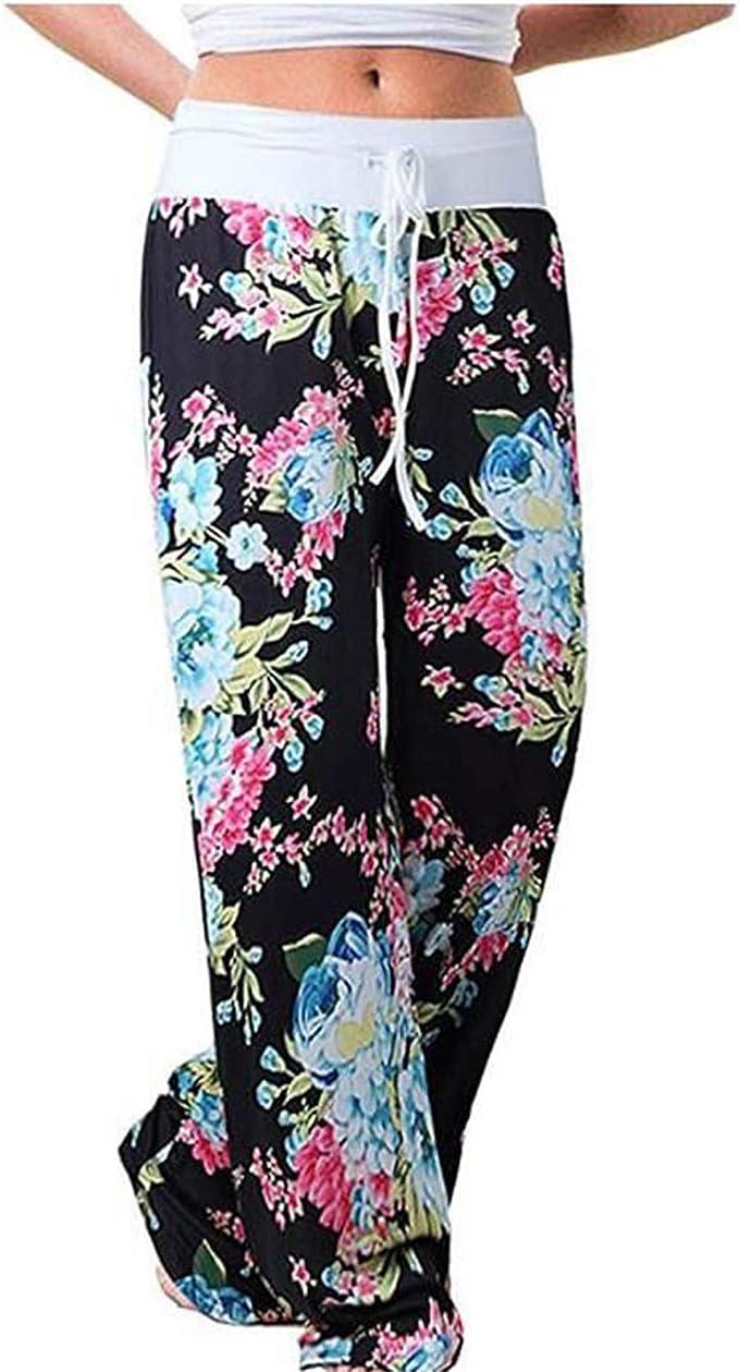 Amazon.com: Fanteecy - Pantalones de mujer con cordón ancho ...