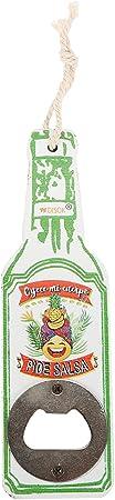 """Abrebotellas de Madera en Forma de Botella Diseño""""Tropical"""" (Precio Unitario) - Abridores, abre botellas originales y baratos para Detalles, recuerdos y Regalos de Bodas, Bautizos y Comuniones"""
