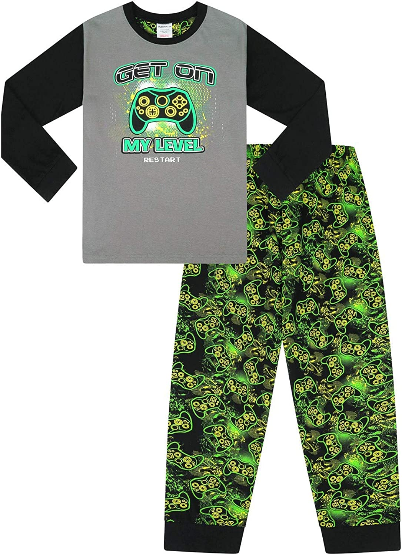 Colore Verde The PyjamaFactory Pigiama Lungo in Cotone per Bambini e Bambine