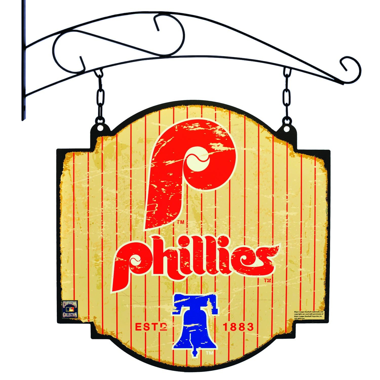 Winning Streak Sports MLB Philadelphia Phillies Mens Tavern Sign 11108 Red Large