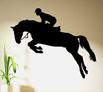 Amazoncom Sporting Horse Jumping Show Horse Rider Jockey Wall - Sporting wall decals