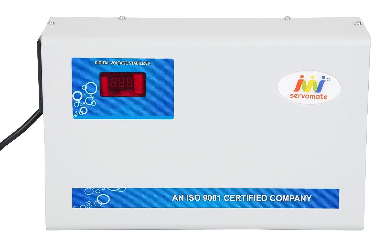 Servomate Aluminum 5 KVA Automatic Stabilizer for 2 Ton AC (150-280V, Ivory)
