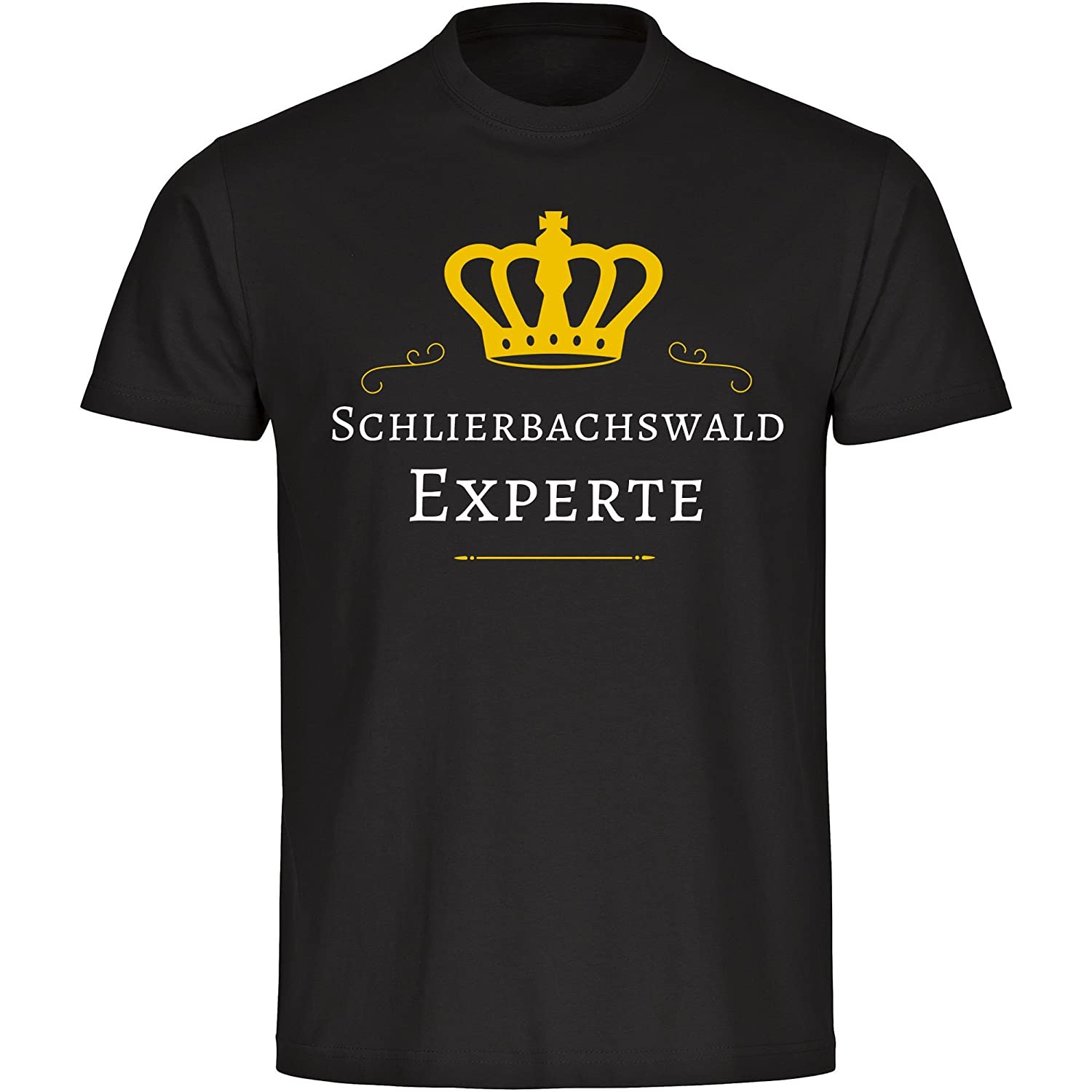 T-Shirt Schliersee Bachs Forest Expert Men's Black Size S to 5XL