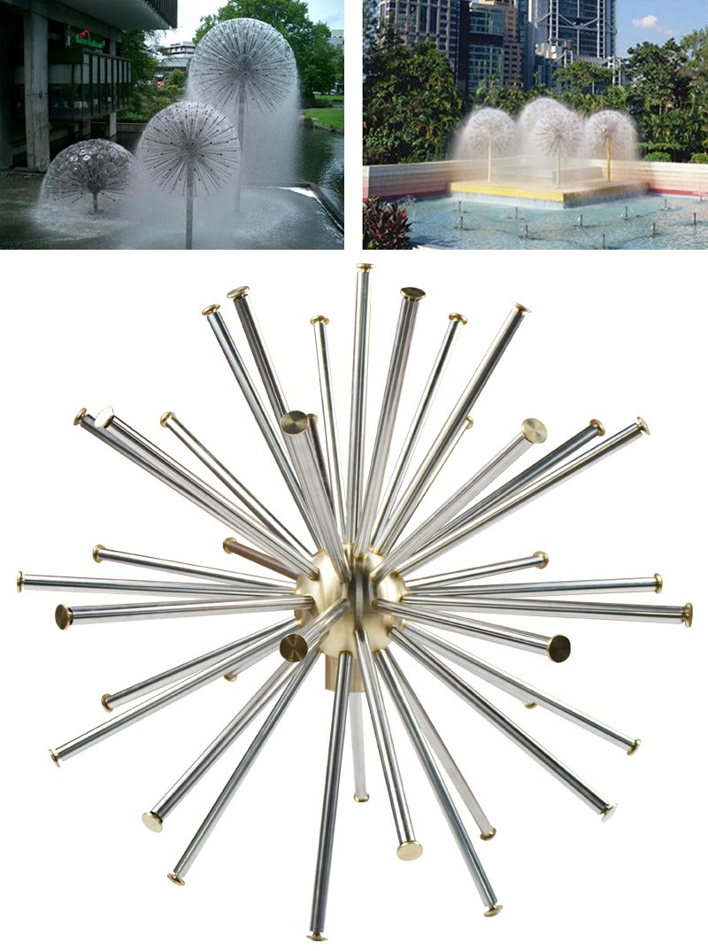1.5'' DN40 Dandelion Fountain Nozzle Stainless Steel Crystal Ball Water Spray Hot#021047
