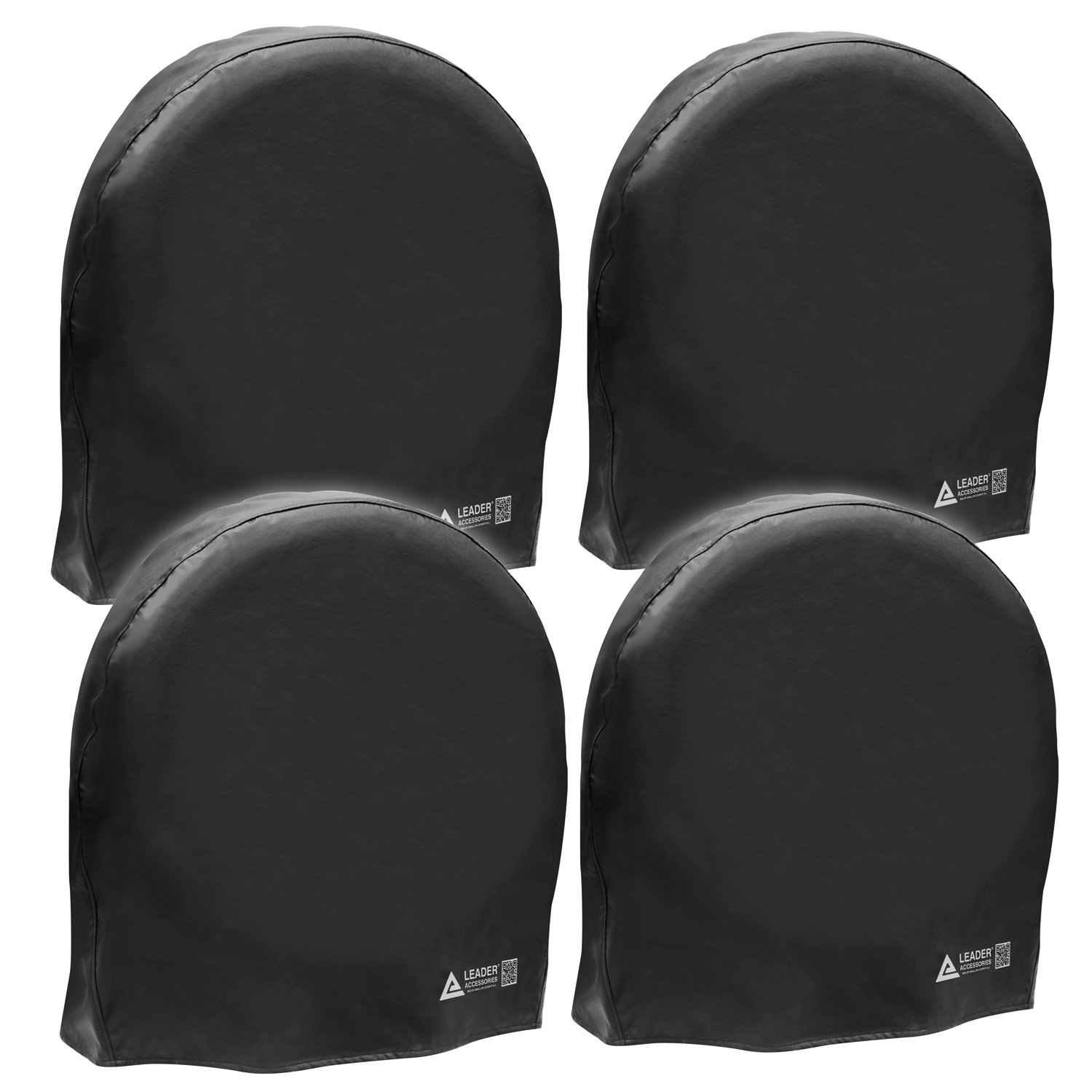 Leader Accessories 4pcs RV Tire/Wheel Covers Camper Car Trailer Truck Fits (32'-34.5') in Dia. from Side to Side