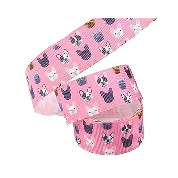 Dog Printed Grosgrain Ribbons Animal Ribbon Hair Accessories Crafts Decor