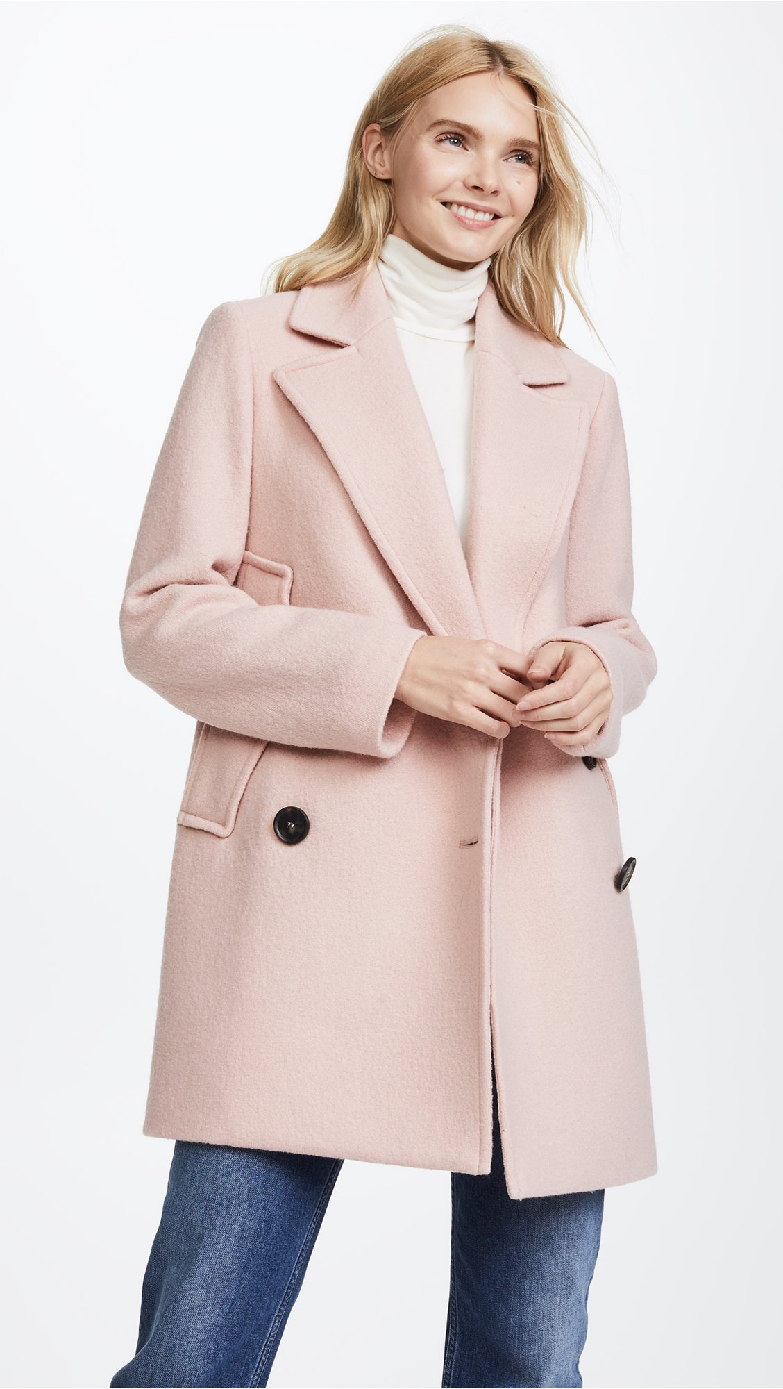 Theory Women's Cape Coat, Chalk Pink, S by Theory (Image #2)