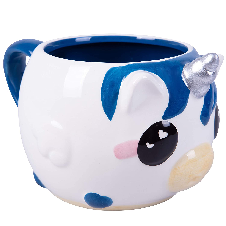 Narwhal Unicorn of The Sea Coffee Mug 18 oz Glitter Galaxy Nizzle The Narwhal Оne Расk