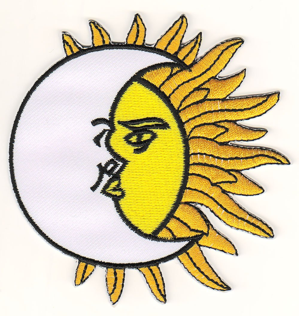 Yin Yang Sun And Moon Embroidered Iron On Sew On PatchBadge