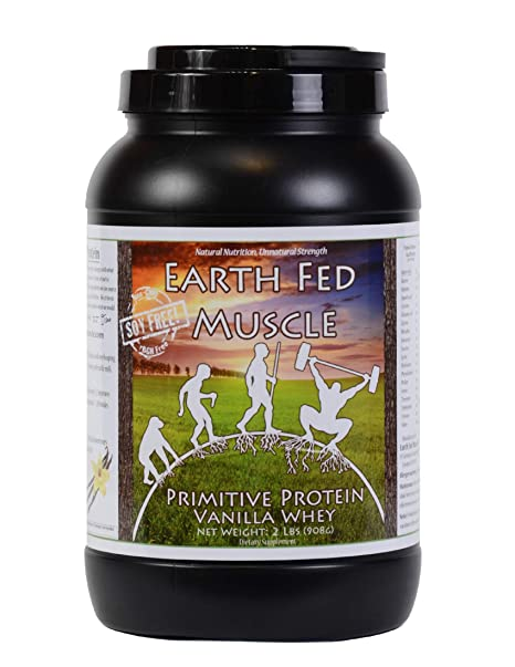 Amazon.com: Earth Fed Muscle Primitive Protein Vanilla Whey 2lb - No Fillers, Flow Agents, or Synthetic Blends, Soy Free, Non GMO and Hormone Free ...