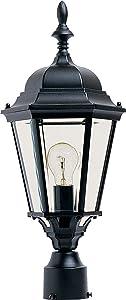 Maxim 1005BK, Westlake Cast Aluminum Post Lamp - 100W Black Outdoor Post Lighting, Incandescent Post Lantern. Lighting Fixtures