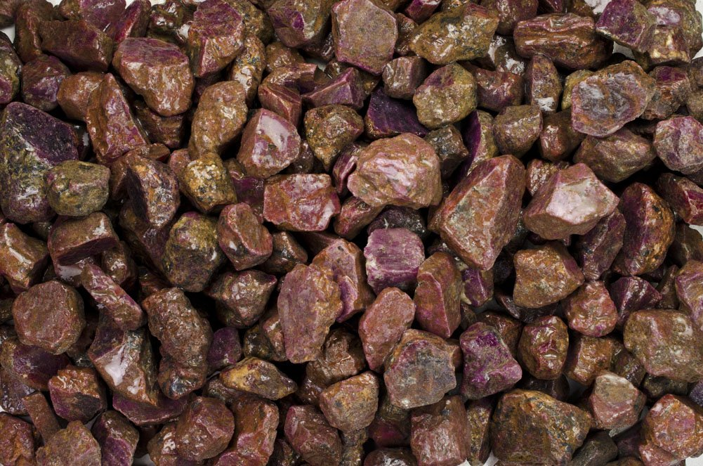 Fantasia Materials: 1 lb Red Corundum Ruby ''AAA'' Grade Stones from India - Raw Natural Crystals for Cabbing, Cutting, Lapidary, Tumbling, Polishing, Wire Wrapping, Wicca & Reiki Healing