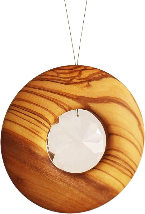 Mobile Deko Aufh/änger mitienda mit Liebe gemacht Fensterdeko Windspiel Kreis aus Metal Traumf/änger Reflection
