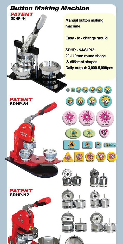 Asc365 1-1//2 37mm 100sets Pin Badge Button Parts Supplies for Pro Maker Machine(item#015502)