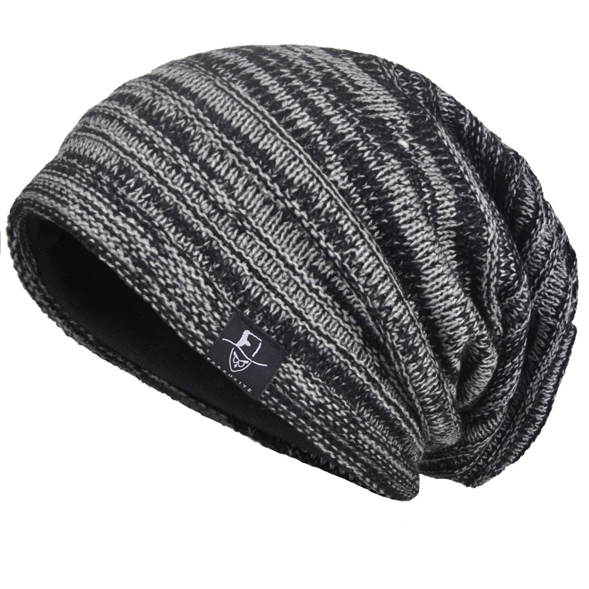 6d836898bed VECRY Mens Slouchy Knit Oversized Beanie Skull Caps Artistic Hats (Black)   Amazon.co.uk  Clothing