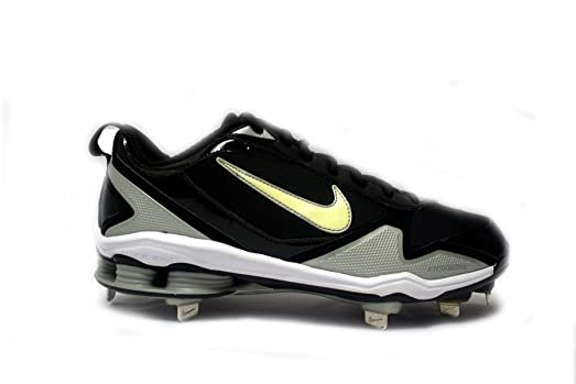 new arrival 18825 dce0e ... sale nike shox fuse 2 metal baseball cleats 9.5 black white metallic  silver edc17 f084e ...