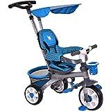 Costzon 4-In-1 Baby Tricycle Steer Stroller Detachable Learning Bike w/ Canopy Basket