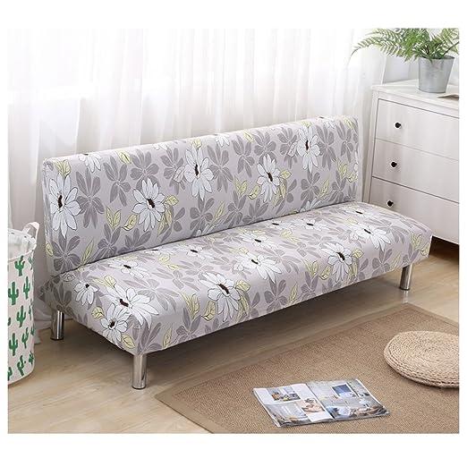 DISCOVERY Funda de sofá Cama Futon Protector Plegable sin Brazos elástico Spandex Moderno Simple Sala de Estar Fundas de sofá, Color-8, 160-190cm