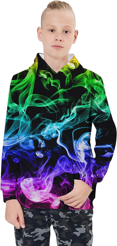 Idgreatim Jungen M/ädchen Hoodie 3D Print Kapuzenpullover Sweatshirts Mit Kapuze Pullover 4-16Y