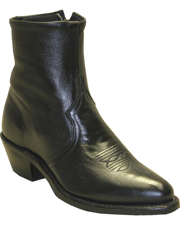 Abilene Men's Sage by Boot Zipper Short Black 10 D(M) US