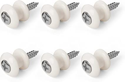 Electric guitar Strap button and screw chrome