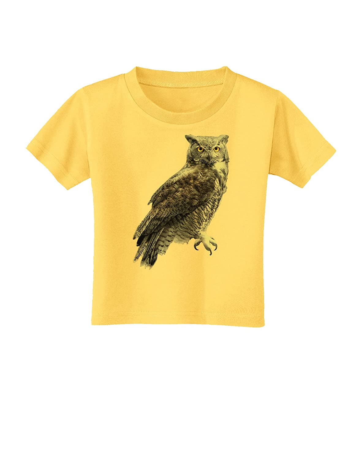 TooLoud Great Horned Owl Photo Toddler T-Shirt