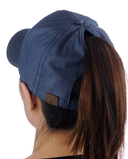 de0f7597e CC Ponycap Messy High Bun Ponytail Adjustable Cotton Baseball Cap Hat