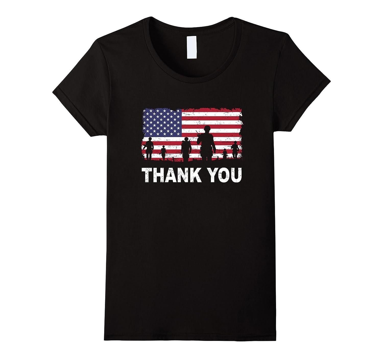 American Flag T-Shirt Thank you Veterans Best Gift T-shirt