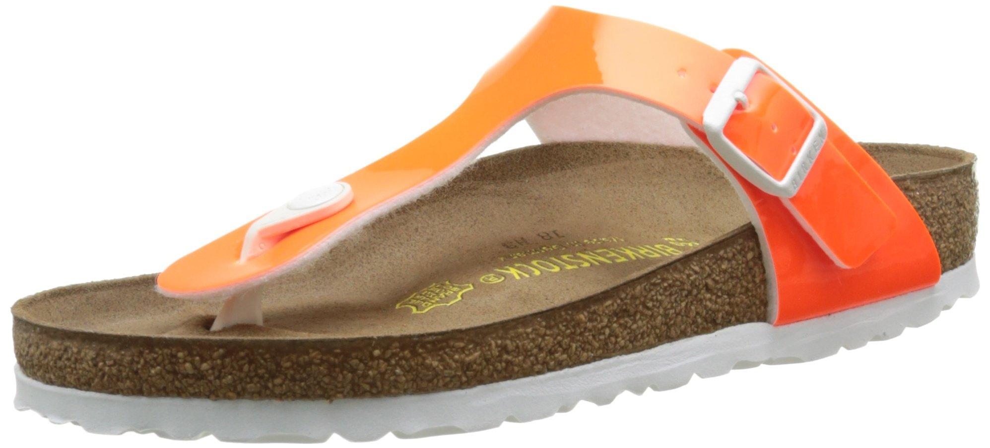 Birkenstock GIZEH Ladies Toe Post Sandals Neon Orange Orange GIZEH 40