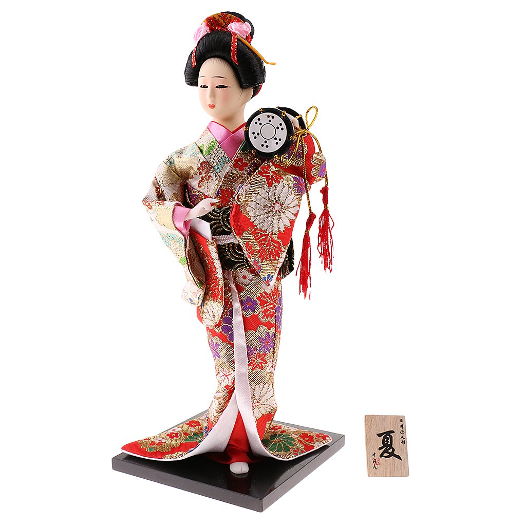 Gorgeous vintage geisha tall doll tall with hour glass