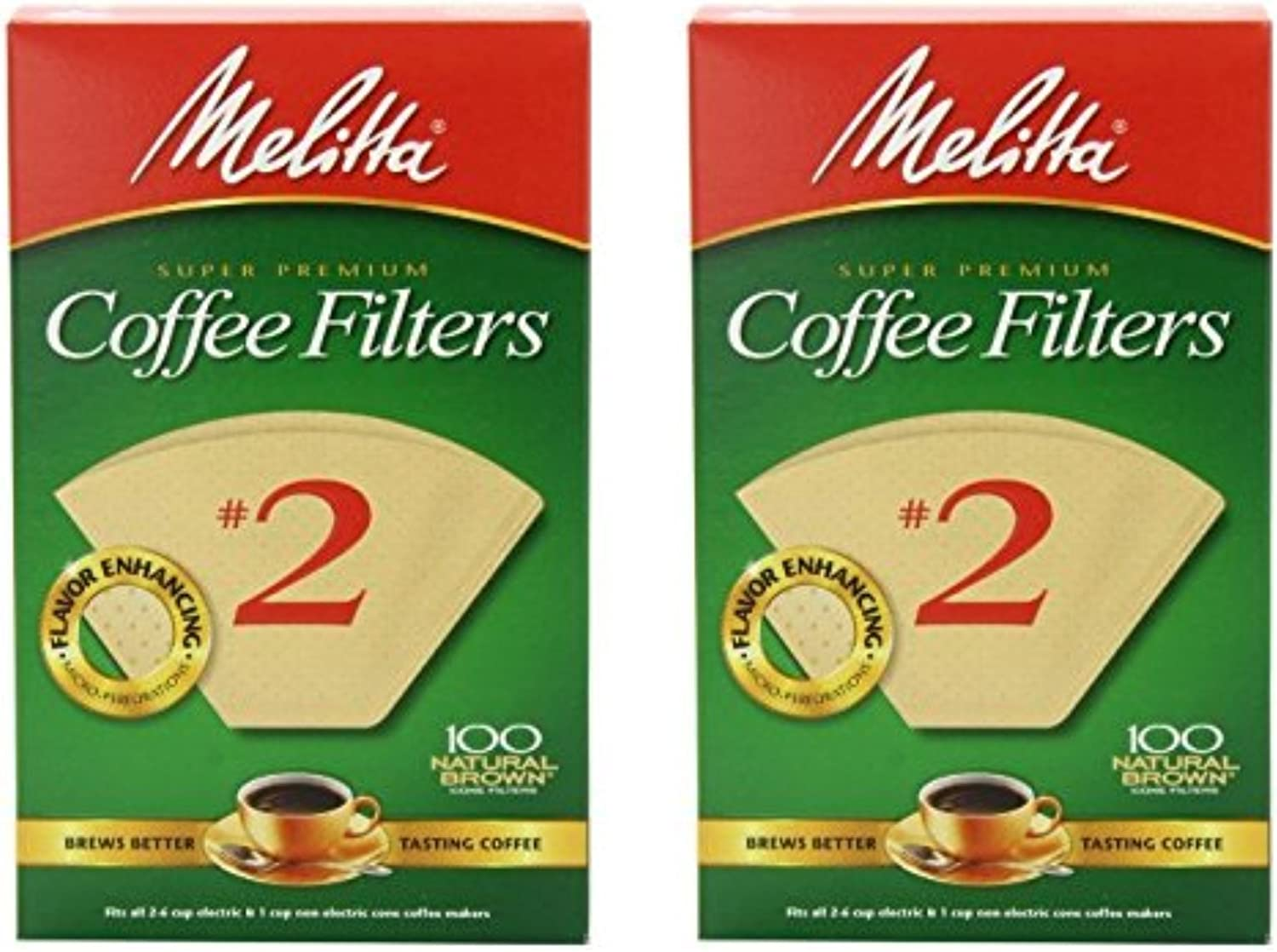 Melitta Cone Coffee Filter #2 - Natural Brown 100 Count (2 Pack) 71DsYpmc2BhL