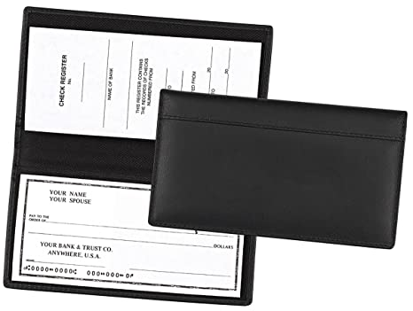amazon com full grain leather checkbook cover for end bound or