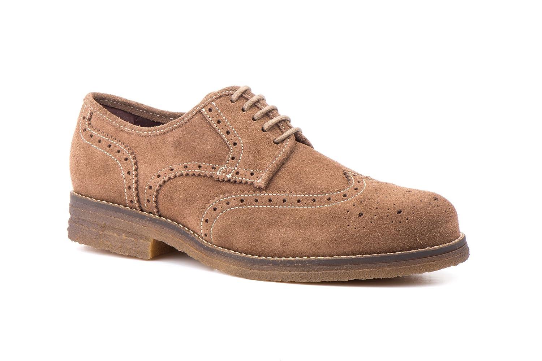 Zapatos de Piel Serraje para Hombre, Manuel Medrano mod.6013, Calzado Made in Spain Garantía de Calidad. (41, Fango)
