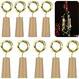 9 x 20 LED Flaschen-Licht Kupferdraht Cork Form der LED Nacht Licht Weinflasche Hochzeit Party romantische Deko (warm weiß) [Energieklasse A+++]