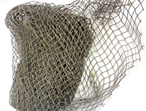 Large Nautical Fish Net, Decorative Use Shades of Grey to Dark or Multi Color 10 Foot X 10 Foot