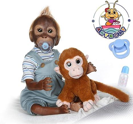 ANTBOAT Reborn Monkey Dolls 20 inch 50cm Realistic Soft